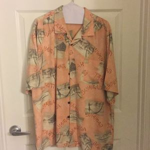 Other - 100% Silk Button Down Shirt w/Pocket